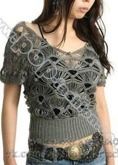 Delicadezas en crochet Gabriela: Modelo con los bucles alargados
