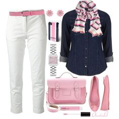 """Pink & Navy"" by andrea-hoss-bickerton on Polyvore"