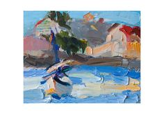 Giclee Fine Art Print  Impasto Seascape with by AnnaFineArtStudio