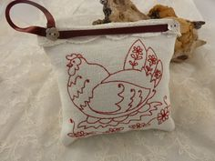 French Collection Chickens on  Linen & Lavender by Krishenka, €8.00