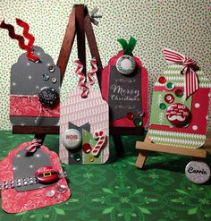 Created some Christmas tags using my leftovers from last years DD album. I love my CraftyPickle Flair too.