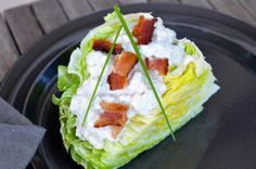 Iceberg Lettuce Salad with Buttermilk Blue Cheese Dressing | entertaining by the bay #recipe