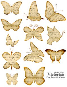 Free Printable* Butterfly Images with distressed writing