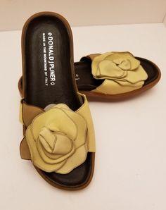 b463d1f743 Donald J Pliner French Flower Italy Platform Slides Sandals Women s US 6.5  M French Flowers
