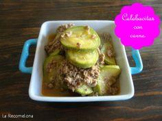 Calabacitas con carne. Aquí la receta: www.recomelona.wordpress.com Dale click!