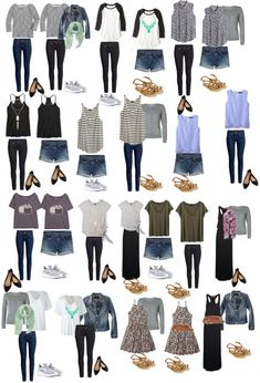 Europe travel outfits Europe travel Packing For 2 Weeks In Europe In A Carry On - The Wandering Weekenders. Europe Travel Outfits, Travel Outfit Summer, Travel Wardrobe, Vacation Outfits, Summer Outfits, Travel Europe, Traveling Outfits, Travel Wear, Clothes For Traveling