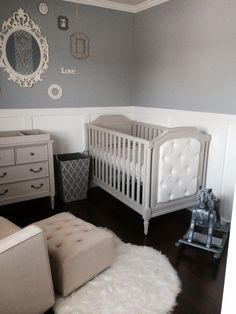Boy nursery ideas elegant baby laundry decoration in new year with white furniture . boy nursery ideas baby room animals that are cool blue grey and . Baby Boy Rooms, Baby Boy Nurseries, Baby Cribs, Boy Bedrooms, Grey Nursery Boy, Grey Crib, White Nursery, Black Crib, French Nursery