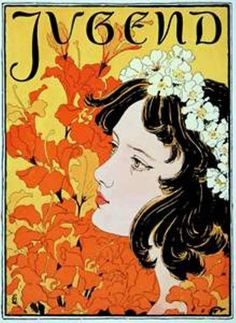 Buy a print of Jugendstil (German Art Nouveau) Poster by Vintage posters (framed or without frames). All prints of Jugendstil (German Art Nouveau) Poster are available in custom sizes. Vintage Posters, Vintage Art, Vintage Graphic, Vintage Prints, Art Nouveau Poster, Modern Art Deco, Art Deco Home, Famous Art, Inspiration Art