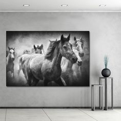 Black And White Picture, Black And White Wall Art, Canvas Poster, Canvas Wall Art, Canvas Prints, Art Timeline, Types Of Art Styles, Pencil Drawings Of Animals, Horse Wall Art