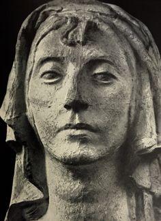 """Бурдель. Antoine Bourdelle. """"Руфь"""" фрагмент, гипс 1922-1923"""