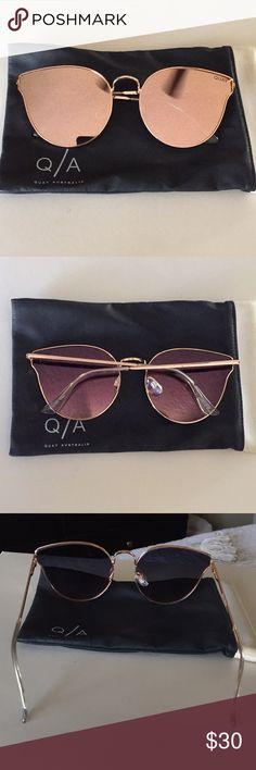 3e512b017d Quay Fleur classic gold cat-eye trendy sunglasses NWT in 2018