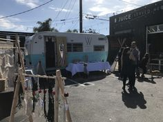 The Westside Collective Mobile Boutique at Juice Served Here in Venice. Mobile Boutique, Recreational Vehicles, Venice, Collection, Venice Italy, Camper, Campers, Single Wide