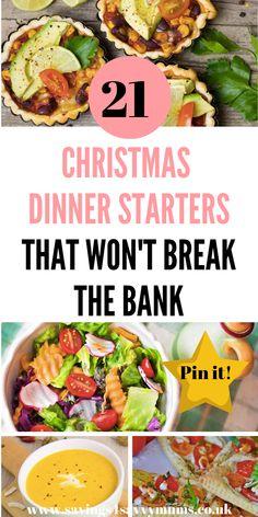 Here are 21 Christmas Dinner Starters That Won't Break the Bank including a break down of the cost by Laura at Savings 4 Savvy Mums dinner starters WordPress › Error Frugal Meals, Cheap Meals, Easy Meals, Frugal Recipes, Christmas On A Budget, Christmas Party Food, Christmas Planning, Xmas Food, Christmas Dinner Starters