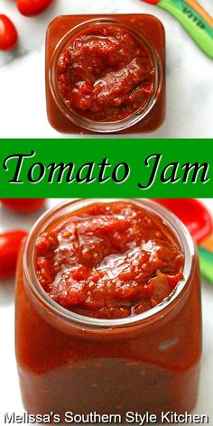 Jelly Recipes, Tomato Jam Recipes, Canned Tomato Jam Recipe, Dessert Recipes, Tomato Jelly, Best Crockpot Recipes, Cooker Recipes, Conservation, Canning Recipes