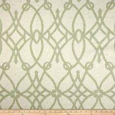 Braemore Fioretto Linen Sprout - $34.98 per yard - Screen-printed on a linen fabric this versatile medium weight fabric is perfect for window treatments (draperies, valances, curtains and swags), toss pillows, pillow shams, duvets, slipcovers and upholstery. Colors include sprout green and cream.
