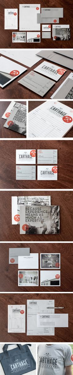 Carthage Stoneworks Branding by Design Ranch. Fivestar Branding, Design and Branding Agency & Inspiration Gallery Collateral Design, Brand Identity Design, Graphic Design Typography, Stationery Design, Corporate Design, Branding Design, Logo Design, Branding Ideas, Print Design