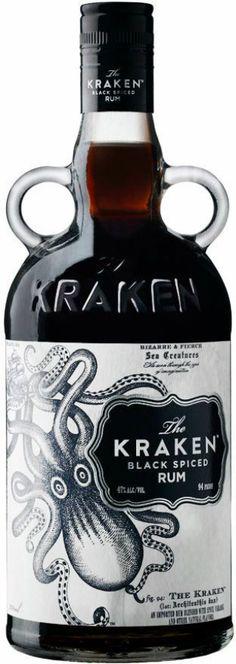 Rum Kraken Black Spiced 70cl - Capitaine Nemo, Davy Jones... Rhum Ambré pour pirates des Caraïbes et papas flibustiers