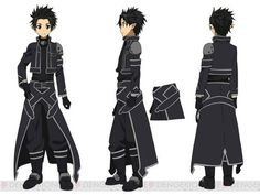 Original character design by abec for Volume 1 of the light novel. Kirito's beta avatar character design by Shingo Adachi for the Aincrad arc of the Sword Art Online anime Kirito Alo, Kirito Kirigaya, Character Art, Character Design, Character Sheet, Character Reference, Sao Characters, Manga Anime, Sword Art Online Kirito