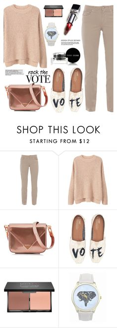 """""""Rock the vote"""" by arohii ❤ liked on Polyvore featuring Fabrizio Gianni, MANGO, Alexander Wang, TOMS, blacklUp, Bobbi Brown Cosmetics and rockthevote"""