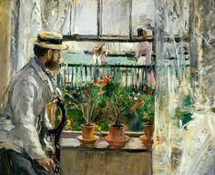 Eugène Manet on the Isle of Wight 1875 Berthe Morisot