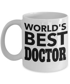 Medical Doctor Gifts - Doctor Office Gifts -Gifts Ideas For A Doctors - Best Funny Doctor Gift - Doctor Gag Gifts - Doctor Themed Gifts - Worlds Best Doctor White Mug checkout more at yesecart.com #yesecart #gift #present