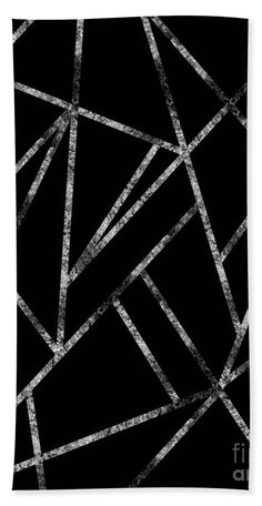 Classic Black Silver Geo Beach Towel for Sale by Anitas and Bellas Art Black And Silver Wallpaper, Black Silver, Black And White Picture Wall, Black And White Pictures, Aesthetic Backgrounds, Colorful Backgrounds, Glitter Phone Wallpaper, Fabric Painting On Clothes, Black Paper Drawing