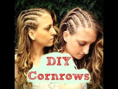 HOW TO DO CORNROWS ON YOUR OWN HAIR HAIR TUTORIAL - YouTube