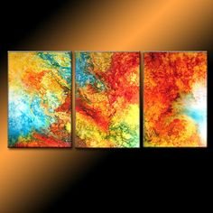 Original Abstract painting Contemporary by newwaveartgallery, $900.00