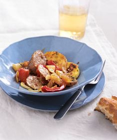 Sausage and Peppers With Crispy Polenta - Probably the best dinner I've ever made.  Even my husband was surprised, as my cooking skills leave A LOT to be desired.