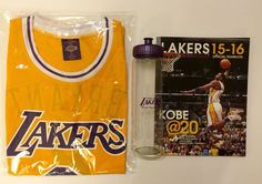 ace1978f4 Lakers Official Year Book 2015-16 Kobe Bryant Shirt And Drink Bottle from   45.0