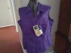 Women's Riders By Lee Size XL sleeveless top NWT #Riders #ButtonDownShirt