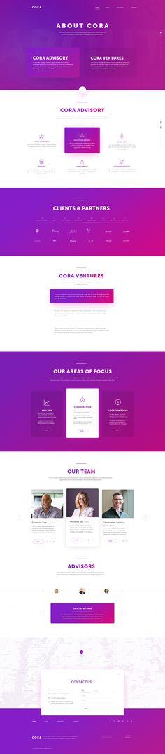 Cora website, colors