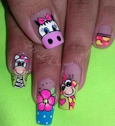 Nails & Co, Toe Nails, Hair And Nails, Animal Nail Designs, Animal Nail Art, Nailart, Nails For Kids, Nail Art Kit, Nail Tutorials