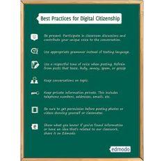 Digital Citizenship Poster from Edmodo