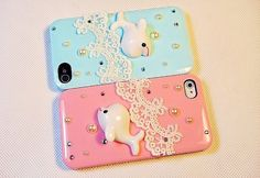 iphone 4s case, little dolphin lace iphone 4s cover iphone 4 case iphone 4s - lace iphone 4 case