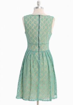 teal and buttercream dress, great shop