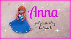 ❅ Anna - Frozen Polymer clay Tutorial ☃ ❅ Polymer Clay People, Polymer Clay Figures, Polymer Clay Animals, Polymer Clay Dolls, Polymer Clay Miniatures, Polymer Clay Projects, Polymer Clay Charms, Polymer Clay Creations, Clay Crafts