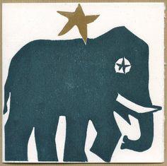 Atelier Marik: Calendrier de l'Avent en gravure, l'Eléphant étoil...