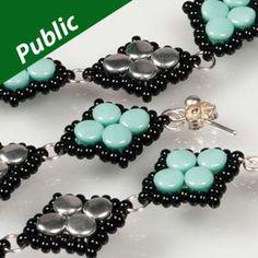 DIAMOND PELLETS Using Czech Glass Pellet Beads