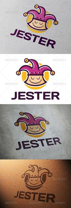 Jester Logo Template — Vector EPS #business #funny • Available here → https://graphicriver.net/item/jester-logo-template/5744776?ref=pxcr
