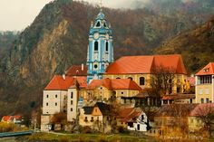 #Duernstein Blue Church on Danube River in Austria - Photograph at BetterPhoto.com