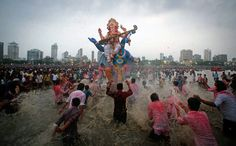 Ganesh Chaturthi festival is celebrated in Mumbai.The Holiday India gives you information on the culture and lifestyle of India.