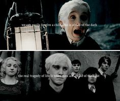 Draco did get the short end of the stick and it's sad Draco Harry Potter, Harry Potter Feels, Harry Potter Pictures, Harry Potter Universal, Harry Potter Characters, Hermione, Draco Malfoy Quotes, Harry Potter Movie Quotes, Dumbledore Quotes