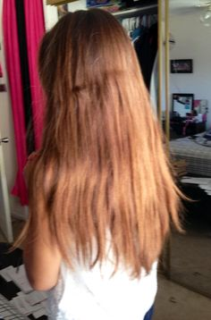 long golden  light brown hair