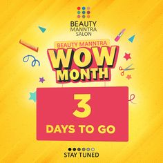 We are coming with the biggest offer of the year! Just 3 days to go that we unveil our WoW month offer. Are you excited? Tag your friends and spread the word. It's going to be an offer you can't refuse. We Are Coming, Salons, June, Words, Friends, Day, Beauty, Amigos, Lounges