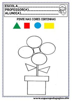 Shape Worksheets For Preschool, Body Preschool, Shapes Worksheets, Free Preschool, 4 Year Old Activities, Preschool Learning Activities, Educational Activities, Kindergarten Coloring Pages, Math For Kids