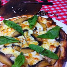 Quattro Formaggi with Portabello and Truffle Oil at Red Oven.   @RedOvenPizza   Vera Pizza Napoletana Mobile Pizzeria. catering, delivery, weddings, lunch service, and public events. - San Diego, CA · www.redovenSD.com