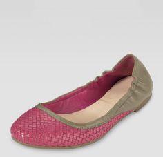 Cole Haan Pink Irwin Woven Ballerina Flat