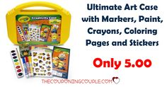WOOHOO! Little ones will love this! The Crayola Ultimate Minions Creativity Art Case is only $5.00! Grab a couple extra for last minute birthday party gifts!  Click the link below to get all of the details ► http://www.thecouponingcouple.com/crayola-ultimate-minions-creativity-art-case-only-5-00/ #Coupons #Couponing #CouponCommunity  Visit us at http://www.thecouponingcouple.com for more great posts!