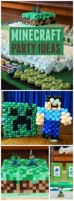 Check out all the fun details at this Minecraft party! See more party ideas at http://CatchMyParty.com!